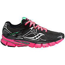 Buy Saucony Mirage 4 Women's Running Shoes, Black/Pink Online at johnlewis.com