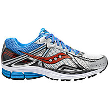 Buy Saucony Men's Phoenix 7 Running Shoes, White/Blue/Red Online at johnlewis.com