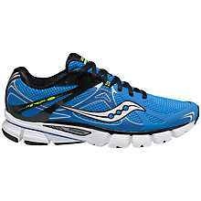 Buy Saucony Men's Mirage 4 Running Shoes, Blue/Black Online at johnlewis.com