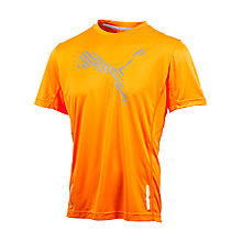 Buy Puma Pure Night Cat Short Sleeve T-Shirt, Orange Online at johnlewis.com