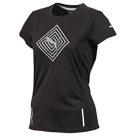 Buy Puma Women's Pure Night Cat Geometric GraphicT-Shirt, Black Online at johnlewis.com
