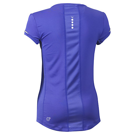 Buy Puma Women's Pure Short Sleeve T-Shirt, Purple Online at johnlewis.com