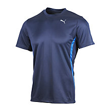 Buy Puma Running Crew Neck T-Shirt, Navy Online at johnlewis.com