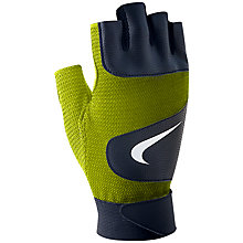 Buy Nike Legendary Training Gloves, Volt/Black Online at johnlewis.com