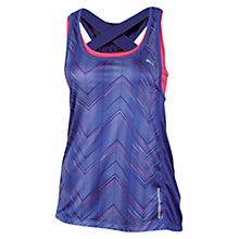 Buy Puma Women's Running Graphic Tank Top, Blue Online at johnlewis.com
