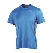 Buy Puma Running Crew Neck T-Shirt, Victoria Blue Online at johnlewis.com