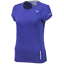 Buy Puma Women's Pure Short Sleeve T-Shirt, Blue Online at johnlewis.com