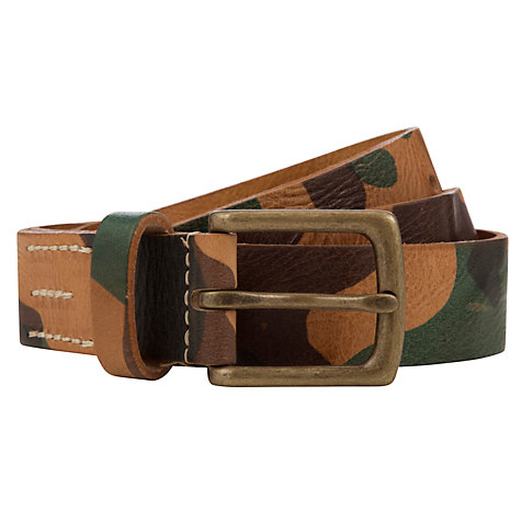 Buy Scotch & Soda Camouflage Print Leather Belt, Multi Online at johnlewis.com