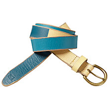 Buy Scotch & Soda Two Tone Leather Belt, Blue/Cream Online at johnlewis.com