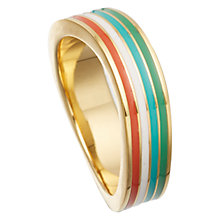Buy Astley Clarke Colour Wave Enamel 18ct Gold Vermeil Thin Ring, Red Online at johnlewis.com