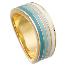 Buy Astley Clarke Colour Wave Enamel 18ct Gold Vermeil Wide Ring Online at johnlewis.com