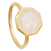 Buy Astley Clarke Colour 18ct Gold Vermeil Octagonal Gemstone Ring Online at johnlewis.com