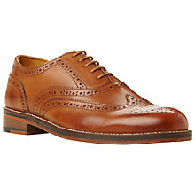 Buy Bertie Braxton Leather Brogues, Tan Online at johnlewis.com