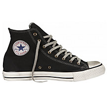 Buy Converse Canvas Hi Top Trainers, Black Online at johnlewis.com
