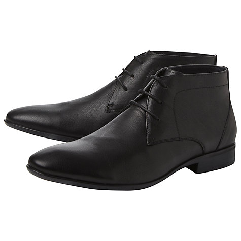 Buy Dune McLaren Leather Flexi Boots, Black Online at johnlewis.com