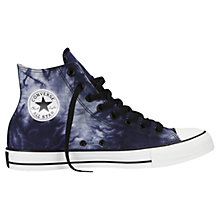 Buy Converse Tie Dye High Top Trainers, Blue Online at johnlewis.com