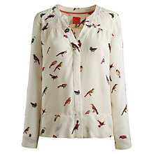 Buy Joules Fiona Shirt, Creme Bird Online at johnlewis.com