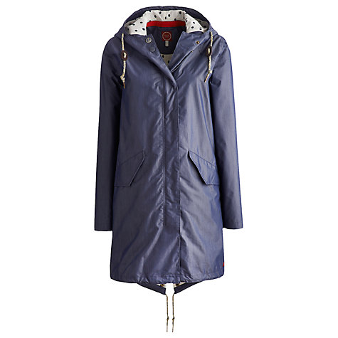 Buy Joules Parkfield Waterproof Coat, Chambray Online at johnlewis.com