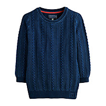 Buy Joules Cleo Cable Knit Jumper, Indigo Online at johnlewis.com