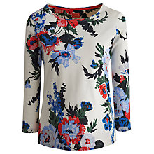Buy Joules Harbour Print Top, Creme Bouqet Online at johnlewis.com