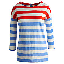 Buy Joules Anwen Jersey Top, Powder Blue Stripe Online at johnlewis.com