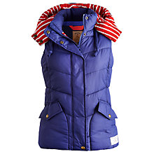 Buy Joules Charmwood Gilet, Blue Print Online at johnlewis.com