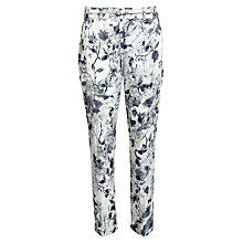 Buy Gerry Weber Floral Print Cropped Trouser, Grey Online at johnlewis.com