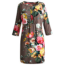 Buy Joules Calista Tunic Dress, Taupe Posy Online at johnlewis.com