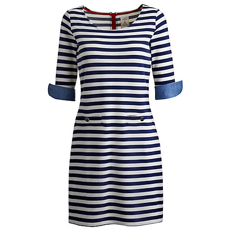 Buy Joules Remy Dress, Indigo Stripe Online at johnlewis.com