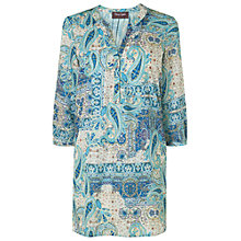 Buy Phase Eight Calia Paisley Tunic Dress, Petrol/Nude Online at johnlewis.com
