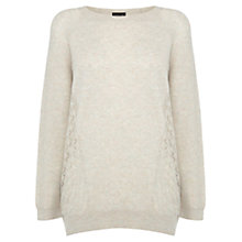 Buy Warehouse Pointelle Jumper, Cream Online at johnlewis.com