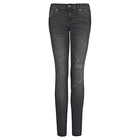 Buy Mango Push-Up Uptown Jeans, Black Online at johnlewis.com