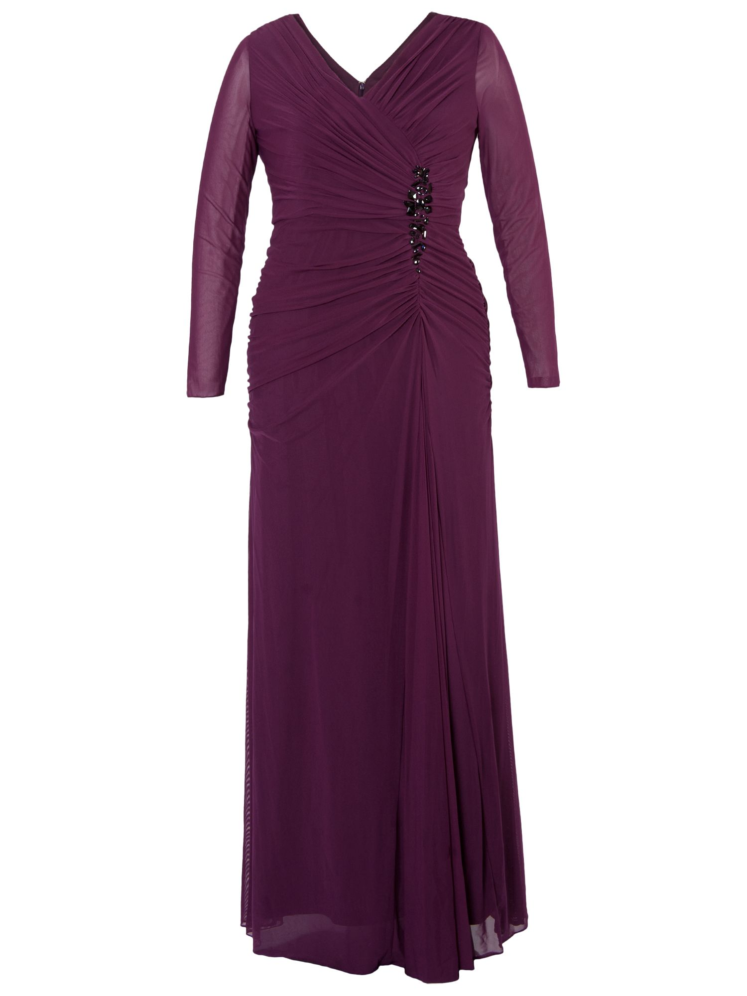 chesca ruched bodice jewel dress, chesca, ruched, bodice, jewel, dress, aubergine|black|aubergine|aubergine|aubergine|black|aubergine|black|black|black|black|aubergine|black|aubergine, 20|12|24|22|12|14|18|18|24|16|20|14|22|16, women, eveningwear, plus size, womens dresses, 1097192