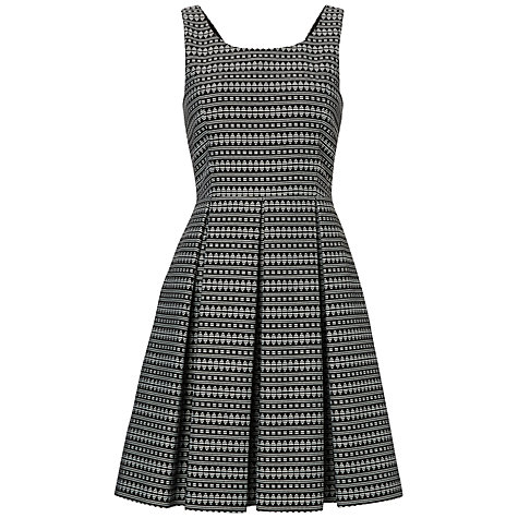 Buy Boutique by Jaeger Scoop Aztec Dress, Black / White Online at johnlewis.com
