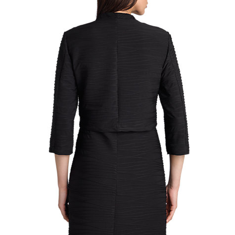 Buy Betty Barclay Irregular Stitched Bolero, Black Online at johnlewis.com