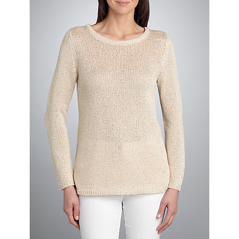 Buy Betty Barclay Chunky Sequins Jumper, Natural Online at johnlewis.com