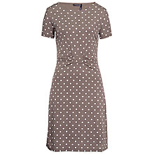 Buy Betty Barclay Gathered Waist Dress, Brown Online at johnlewis.com