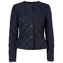 Buy Jaeger Quilted Peplum Jacket, Navy Online at johnlewis.com