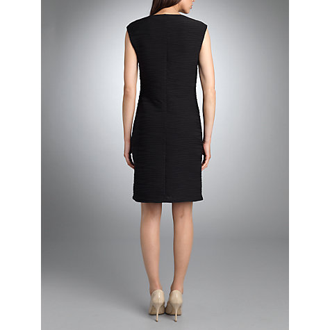 Buy Betty Barclay Sleeveless Irregular Stitched Dress, Black Online at johnlewis.com