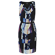 Buy Warehouse Textured Block Print Dress, Multi Online at johnlewis.com