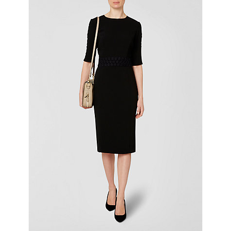 Buy Jaeger Circle Trim Dress, Black Online at johnlewis.com