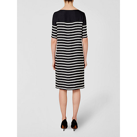 Buy Jaeger Striped Dress, Navy / White Online at johnlewis.com