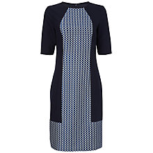 Buy Jaeger Jacquard Dress, Navy Online at johnlewis.com