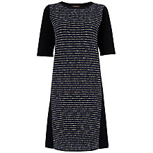 Buy Jaeger Textured Knit Dress, Black / Blue Online at johnlewis.com
