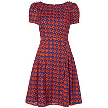 Buy Boutique by Jaeger Floral Tea Dress, Red / Multi Online at johnlewis.com