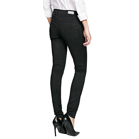 Buy Mango Super Slim-Fit Zippy Jeans, Black Online at johnlewis.com