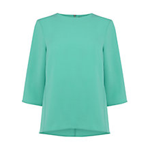 Buy Warehouse Elbow Sleeve Top, Bright Green Online at johnlewis.com