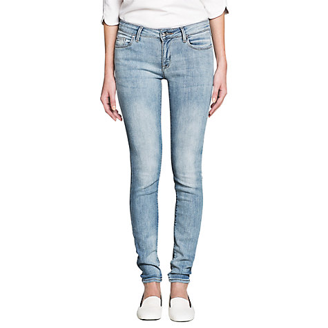 Buy Mango Slim-Fit Olivia Jeans, Light/Pastel Blue Online at johnlewis.com
