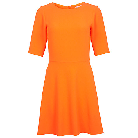 Buy Miss Selfridge Fit and Flared Dress, Fluorescent Orange Online at johnlewis.com