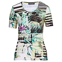 Buy Betty Barclay Exotic Flower Stripe Tee, Multi Online at johnlewis.com